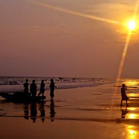 END OF DAY by Debashis Mukherjee - Landscapes Sunsets & Sunrises (  )