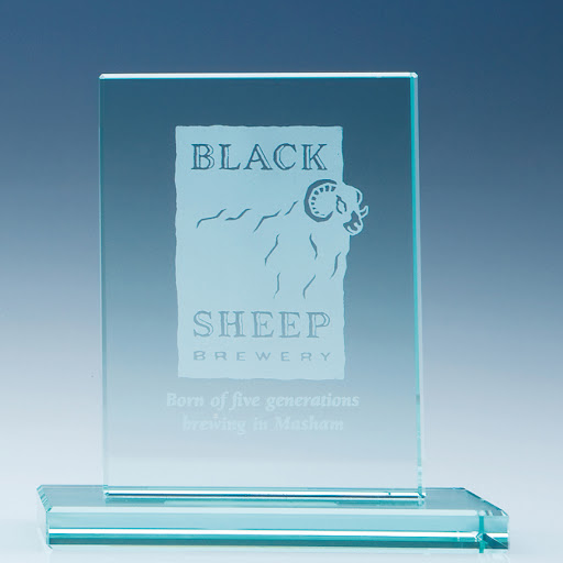 Flat Jade Glass Rectangle Award