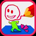 Draw→Moving! icon