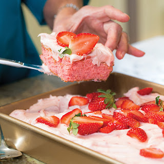 Strawberry Sheet Cake.