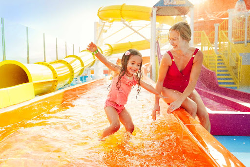 Frolic in the warm weather at WaterWorks, your Carnival waterpark.