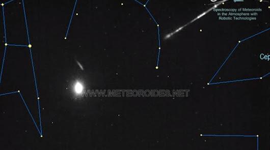El Observatorio de Calar Alto capta una bola de fuego entrando en la atmósfera