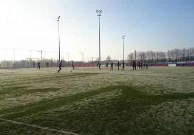 Flames trotseren de koude voor pittige training