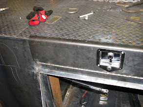 Photo: The ramp storage worked out quite well. The compartment sits below the center of the car.