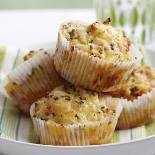 Cheesy Ham and Pineapple Muffins.