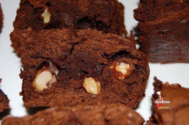 Chocolate Brownies with Caramelized Hazelnuts Recipe