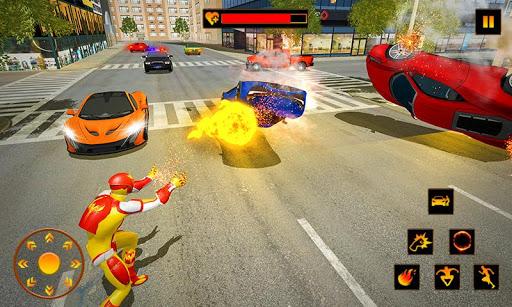 Flamme héros en volant super héros ville sauvetage  captures d'écran 2
