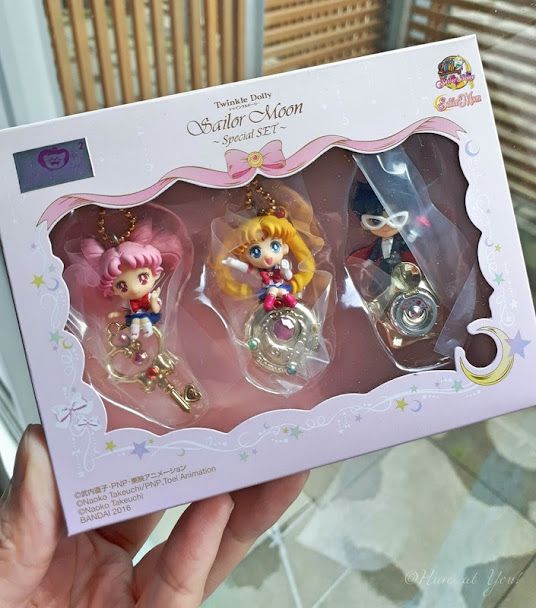 Sailor Moon merchandise featuring Tuxedo Mask, Chibi Moon and Sailor Moon