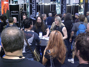 Photo: John Petrucci and Steve Morse signing autographs