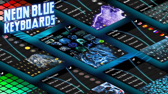 Neon Modré Klávesnice - náhled