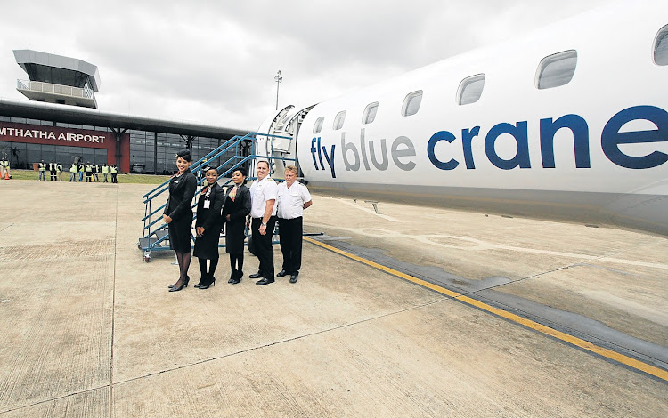 Fly Blue Crane introduced daily flights between Mthatha and Johannesburg. File Picture: DAILY DISPATCH/LULAMILE FENI/