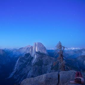 Half Dome at Twilight #2 by Glen Fortner - Landscapes Mountains & Hills