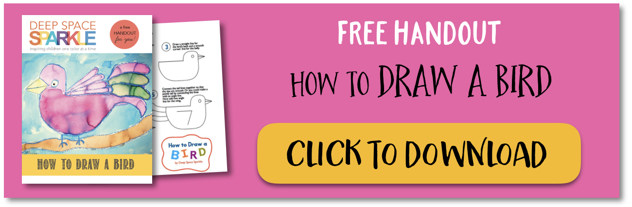 How To Draw A Bird With Feathers Deep Space Sparkle