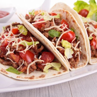 Chipotle-Inspired Ground Beef Soft Tacos.