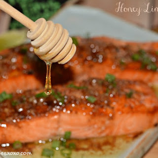 Browned Butter Honey Lime Salmon.