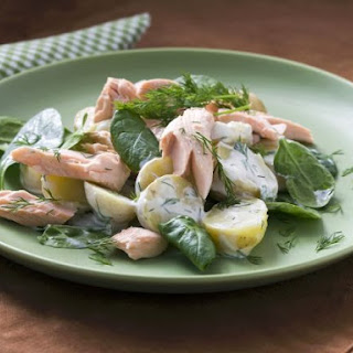 Flaked Fish and Herb Salad