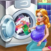 Laundry Girls Wash Dirty Cloth