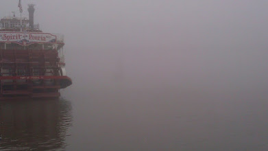 Photo: There is a bridge out there somewhere.
