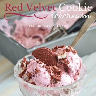 No-Churn Red Velvet Cookie Ice Cream