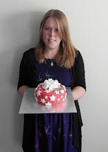 Photo: Jess with her present cake