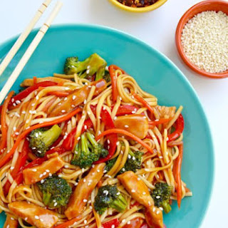 Teriyaki Chicken Stir-Fry with Noodles