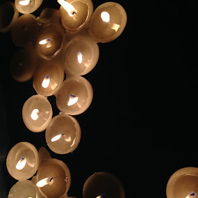Candles at Samhain by Eric Eldritch - Artistic Objects Other Objects ( memorial, flicker, samhain, candles, ancestors )
