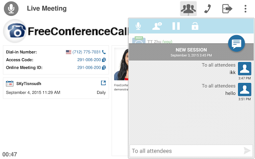 Free Conference Call 1.5.20.0 screenshots 18