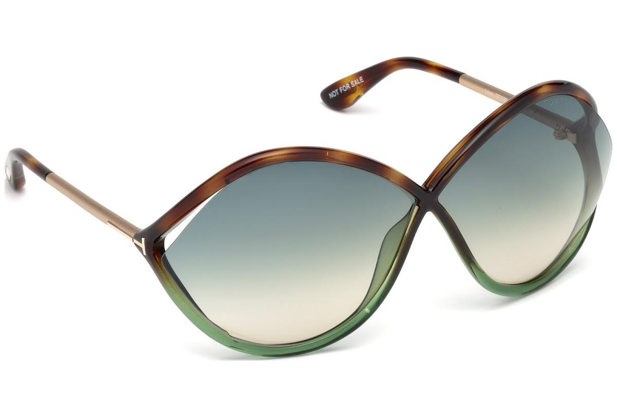 Tom Ford Damen Sonnenbrille »Liora FT0528«, braun, 56W - havana/blau