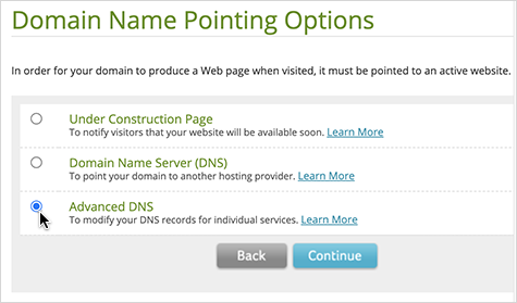 Advanced DNS option