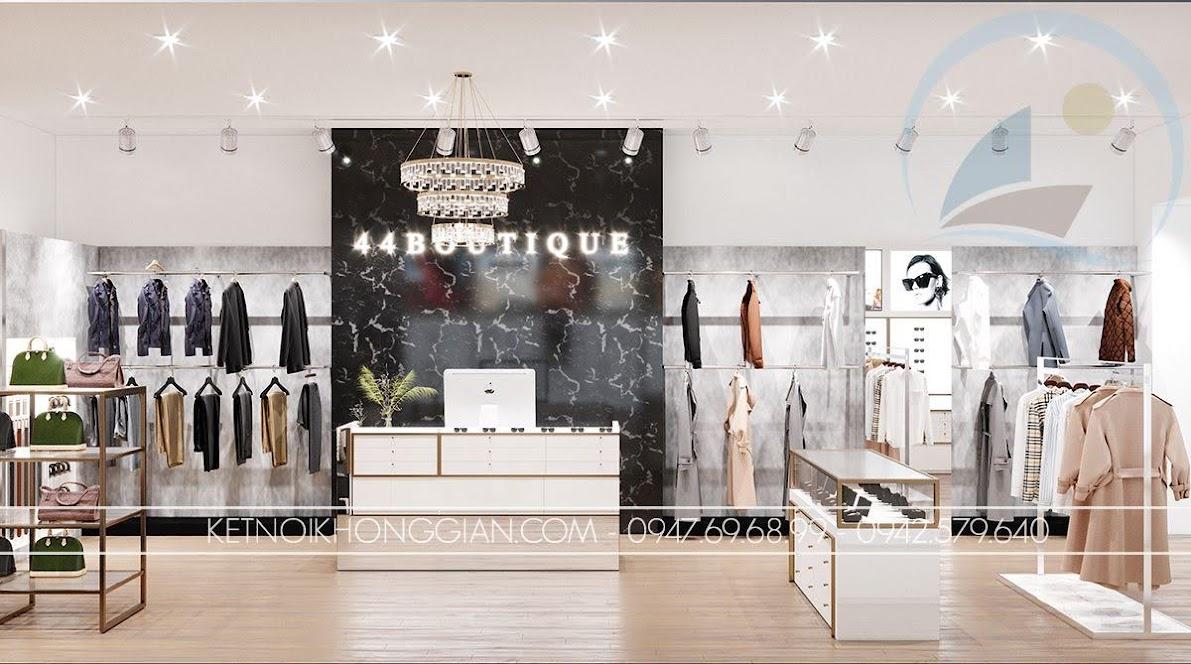 mẫu thiết kế cửa hàng quần áo đẹp