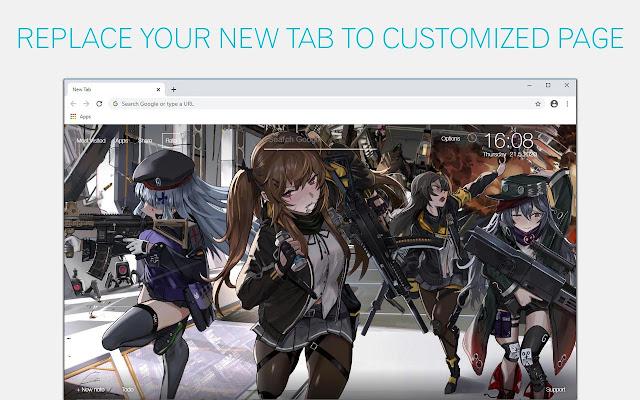 Girls' Frontline Wallpaper HD Girls' Frontline Anime New Tab