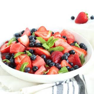 Patriotic Summer Fruit Salad.