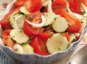 Cucumber Slices In Italian Salad Dressing