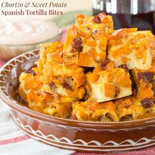 Chorizo and Sweet Potato Spanish Tortilla Bites