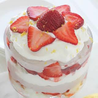 Strawberry Shortcake Trifle with Lemon Walnut Cream.