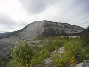 Photo: The Frank Slide, from the interpretive centre