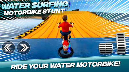Water Surfing Motorbike Stunt APK screenshot thumbnail 1