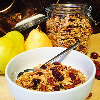 Pear Cardamom Granola with Pecans
