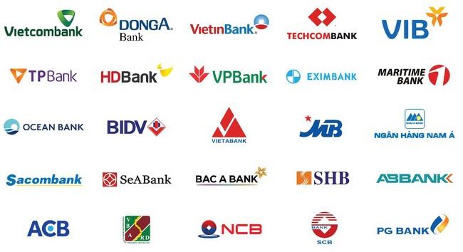 các ngân hàng  vay tiền trả góp lãi suất thấp