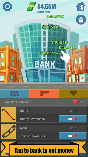 Bank Robber Clicker - Idle Tycoon 1.3.4 screenshots 1