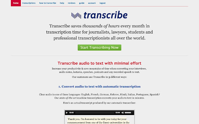 Transcribe: transcribe audio/interviews fast!
