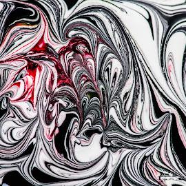 Macro Squiggles by Nigel Bishton - Abstract Macro