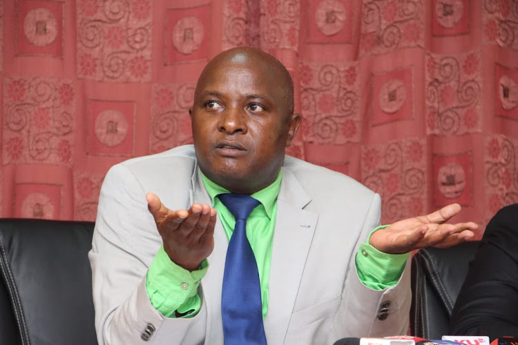 Nominated MP Godfrey Osotsi during a press briefing at Parliament Buildings on Thursday, March 21
