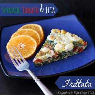 Spinach Tomato Feta Frittata Recipes