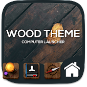Wood theme for  Computer Launcher