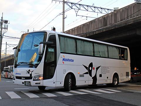 西日本鉄道「どんたく号」 4873 博多バスターミナルにて