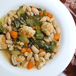 White Bean Escarole Soup with Turkey Meatballs