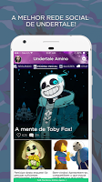 screenshot of Undertale Amino em Português