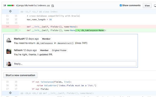 GitHub comment navigator