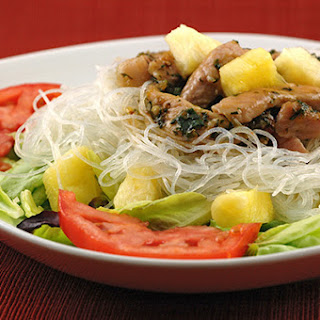 Thai-Style Pork And Pineapple Noodle Salad